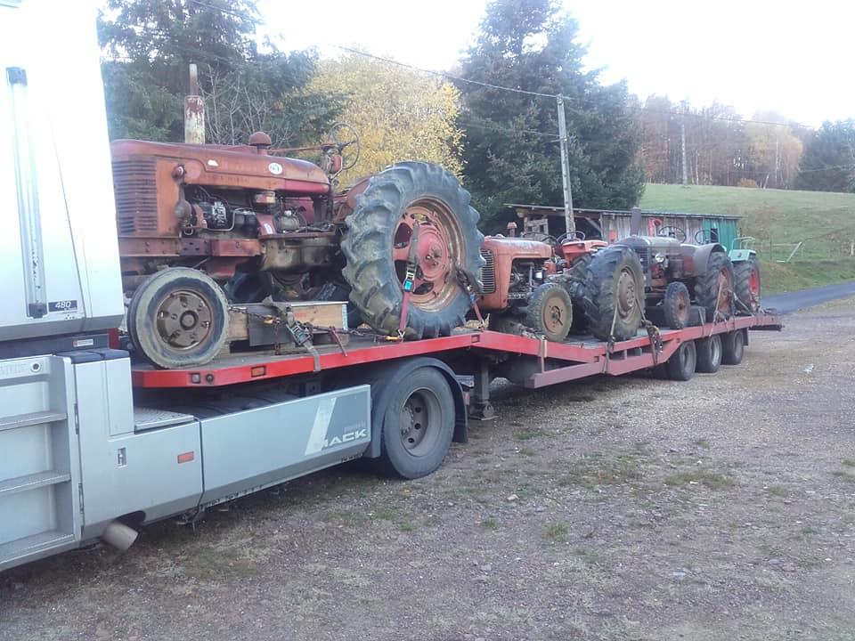 Transport oldtimer tractoren